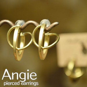 Brass Circle Gold Pierced Earring