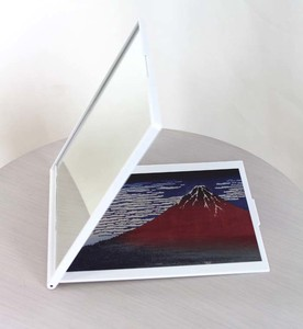 Palm Make-Up Mirror Art & Design Book Thirty-six Views of Mount Fuji Gaifu Clear Weather