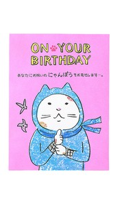 Birthday Humor cat Pop Card Ninja