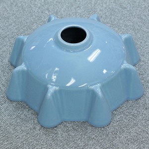 Pottery Lamp Blue