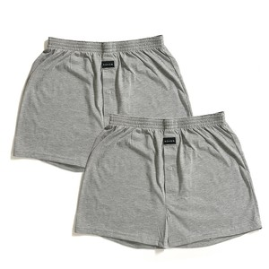 2 Colors Jersey Stretch 2 Pcs Knitted Boxer Short