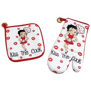 【Betty Boop】ポットホルダー&オーブンミトン セット Kiss the Cook BB5516