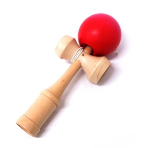 Japanese Style Toy Wooden Color Kendama Red