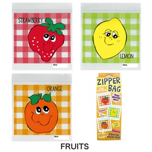 Print Zipper Bag Vinyl Storage Bag Fancy Goods Subdivision Save Fruit