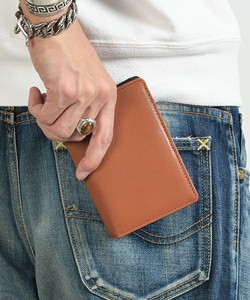 Rename Genuine Leather Notebook Type Wallet
