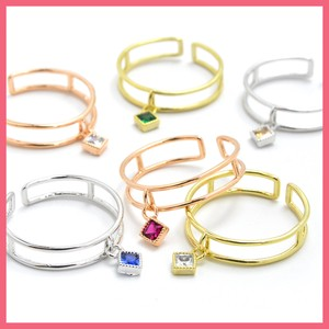 Square Color Cubic Double Ring