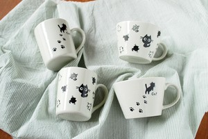 Light-Weight Memo Pad Soup Cup Mug Cup Mino Ware Plates & Utensil Cat cat