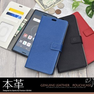 Genuine Leather Use Xperia XZ Premium Genuine Leather Leather Stand Case Pouch
