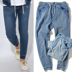S/S Men's Cut Denim Pants Sweat Indigo