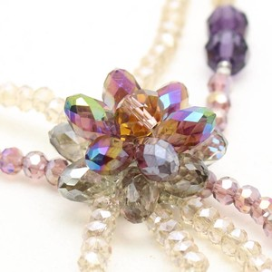 [2019NewItem] Long Necklace Glass Beads Purple Long Necklace