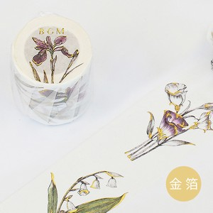 Gold Leaf Washi Tape Flower Color Memory