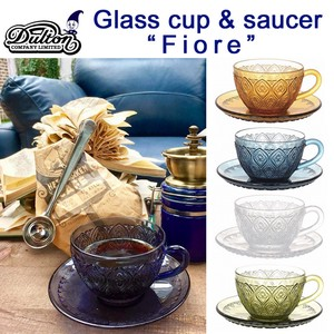 GLASS CUP & SAUCER ''FIORE''