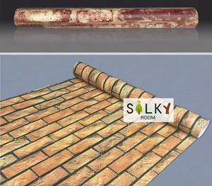 Brick Peel Off Wallpaper Brick Adhesion Sheet Cutting Sheet Attached SEAL Wallpaper