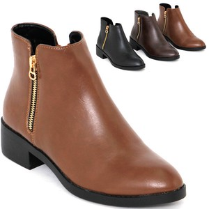A/W Boots Fake Zipper Short Boots Heel