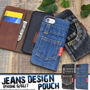 Smartphone Case iPhone iPhone7 Design Notebook Type Case Denim Design Notebook Type Case