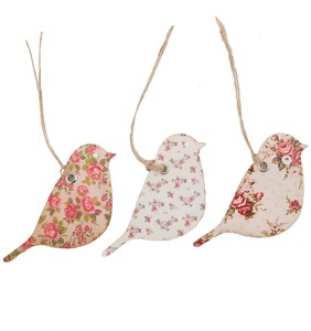 Vintage Rose Bird Gift 15 Pcs Set