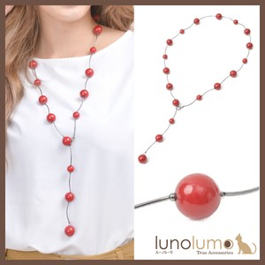 CLASSICAL RED Red Ball Necklace