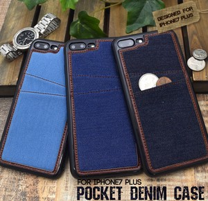Smartphone Case iPhone Plus iPhone7 Plus Exclusive Use Pocket Denim Design Case