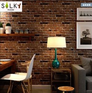 (レンガC) wp-012 貼ってはがせる壁紙 レンガ風 粘着シートカッティングシート DIY のり付き シール壁紙