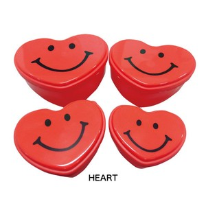 Heart Container 4Pcs set Nesting Kitchen BENTO Picnic