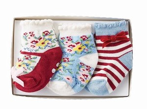 Garden Socks 3 Pairs with box 12Months