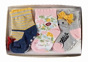 Fur Garden Cat Socks 3 Pairs with box 12Months