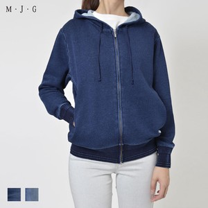 Fleece Indigo Hoody Raised Back Material M J G