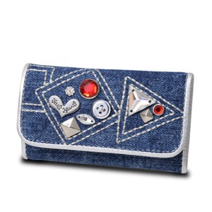 Charm Key Case Blue