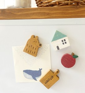 Wooden Magnet Home Set Apple Set
