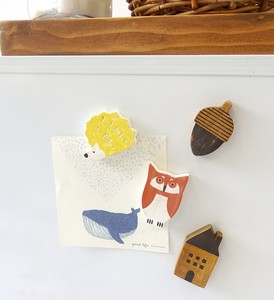 Wooden Magnet Owl Set Hedgehog Set