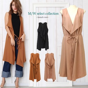 Tailored Long Sleeveless Light Outerwear Casual