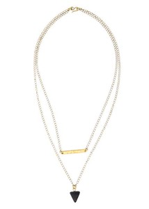 Geometric Double Chain Necklace