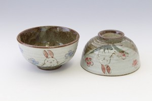 Everyday Rice Bowl Japanese Tea Cup Flower Rice Bowl