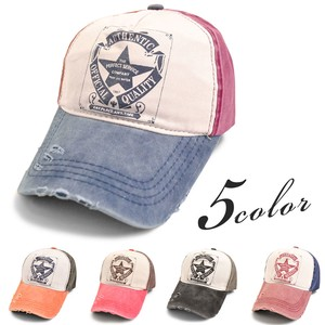 MAGGIO Star Damage Cap Hats & Cap Leather