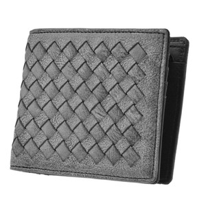 Men's Vegetable Leather Mesh Clamshell Wallet Leather