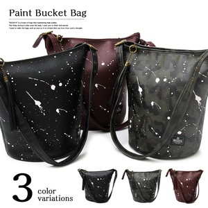 Drip Paint Bucket Bag Shoulder Bag