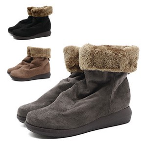 Fur Short Boots Color