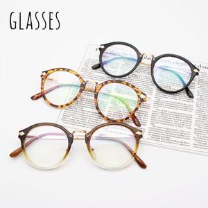 b0179d251a Retro Round Eyeglass Eyeglass Glasses Glasses Fancy Goods Khaki  Tortoiseshell