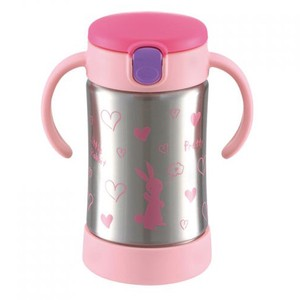 Richell Cold Insulation Straw Mug Pink