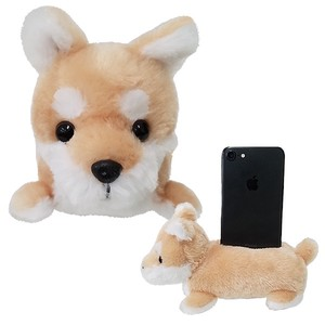 Cell phone Stand・Shiba-inu / A soft plush puppy to hold your phone