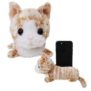 Cell phone Stand・Orange Tabby cat  / A soft plush kitty to hold your phone