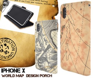 Smartphone Case Map Design iPhone Design Case Pouch