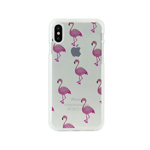 iPhone soft Clear Case Flamingo