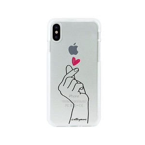 iPhone soft Clear Case Heart