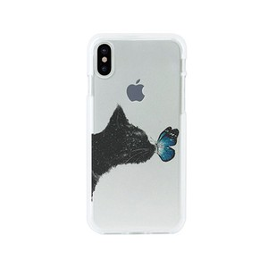 iPhone soft Clear Case cat Butterfly