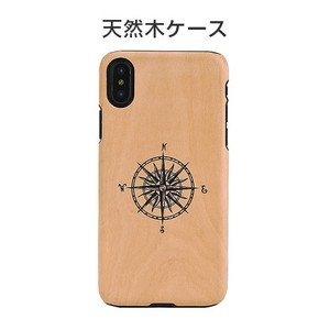 iPhone Case Natural Wood Compass