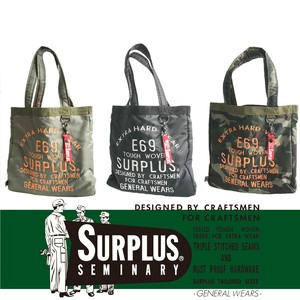 SURPLUS Military Embroidery Tote Bag Travel Bag