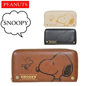 Snoopy Long Wallet Retro Gift Snoopy Push Round Wallet