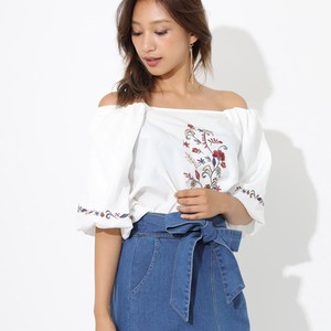 Front Embroidery Balloon Top Top