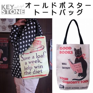 Stone Old Poster Tote Bag Cat